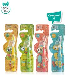 Buddsbuddy Kids Soft Tooth Brush Pack of 4 - Multi Colour