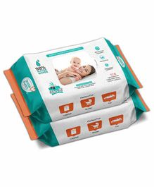 Buddsbuddy Skincare Wet Baby Wipes Combo of 2 White - 72 Pieces
