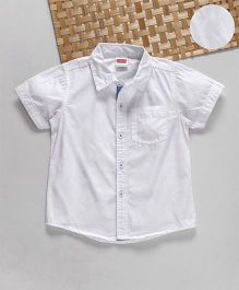 Babyhug Half Sleeves Plain Shirt - White