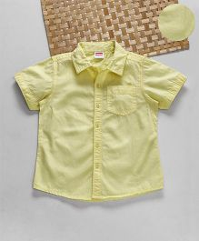 Babyhug Half Sleeves Solid Shirt - Lemon Yellow