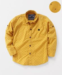 Jash Kids Full Sleeves Shirt Airplane Print - Mustard Yellow