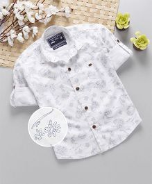 Jash Kids Full Sleeves Shirt Floral Print - White