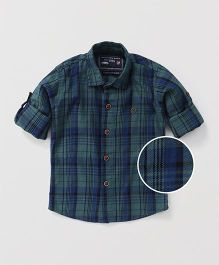 Jash Kids Full Sleeves Checks Shirt - Green