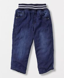 Jash Kids Full Length Elasticated Jeans - Dark Blue