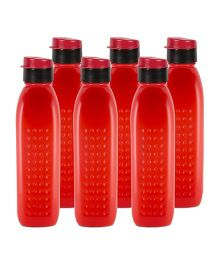 G-Pet Sipper Water Bottles Pack of 6 Orchid Red - 1000 ml