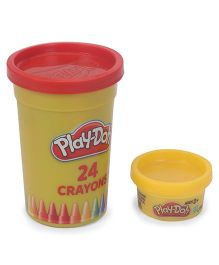 Play Doh Crayons With Mould Pack of 12 - Multicolour