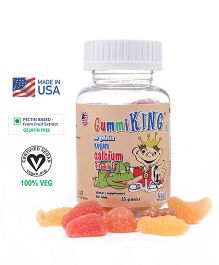 Gummiking Calcium With Vitamin D Gummy For Active Kids - 30 Gummies (Assorted)