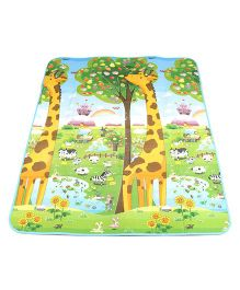 Animal And Number Platy Mat - Blue Green