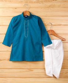 Babyhug Full Sleeves Kurta And Dhoti - Teal