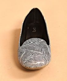 BonOrganik Zebra Print Shoes For Mom - Black & White
