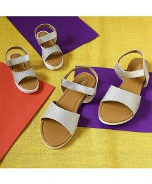 BonOrganik Classic Platform Sandals For Mom - Silver
