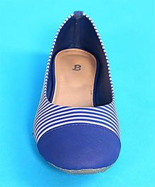 BonOrganik Striped Ballerinas For Mom - Blue