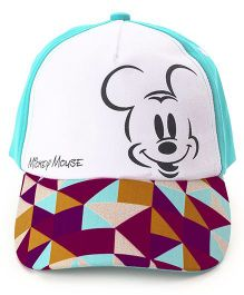 Babyhug Summer Cap Mickey Mouse Print - Blue & White