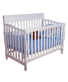 Abracadabra 3 in 1 Wooden Baby Cot & Toddler Bed - White