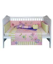 Abracadabra Bedding Set Floral Print Pack Of 6 - Pink