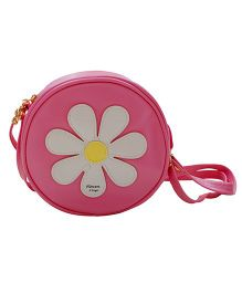 Abracadabra Girls Sling Bag Daisy Patch - Baby Pink