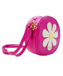 Abracadabra Girls Sling Bag Daisy Patch - Hot Pink