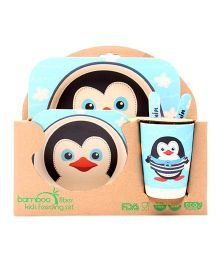 Abracadabra Baby Feeding Set Penguin Design - Blue