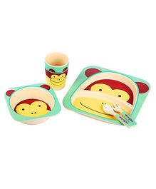 Abracadabra Baby Feeding Set Monkey Design - Green