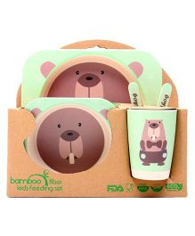 Abracadabra Baby Feeding Set Bear Design - Green