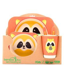 Abracadabra Baby Feeding Set Chipmunk Design - Orange