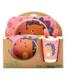 Abracadabra Baby Feeding Set Hedgehog Design - Pink