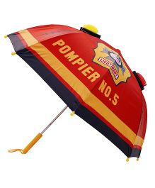 Abracadabra 3D Pop-up Umbrella Fire Engine Print - Red