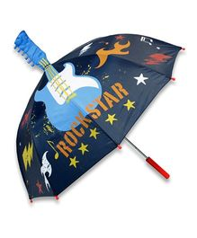 Abracadabra 3D Pop-up Umbrella Rockstar Print - Navy Blue