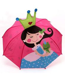 Abracadabra 3D Pop-up Umbrella Princess Print - Pink