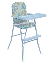 New Natraj High Chair With Removable Tray  - Sky Blue