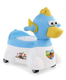 Duck Shaped Musical Potty Chair - Blue White