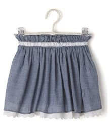 Cubmarks Skirt With Lace Piping - Blue