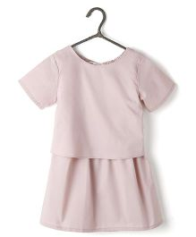Cubmarks Dress With Bow At Back - Pink