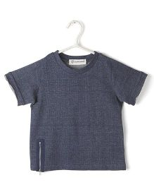 Cubmarks Tee With Zip - Blue