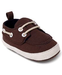 Cute Walk by Babyhug Shoes Style Booties - Brown White