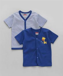Babyhug Half Sleeves Vest Pack of 2 - Royal Blue