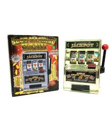Emob Vintage Jackpot Casino Slot Machine Money Box - Multi Colour