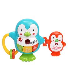 Emob Penguin Shape Battery Operated Musical Toy - Blue Green