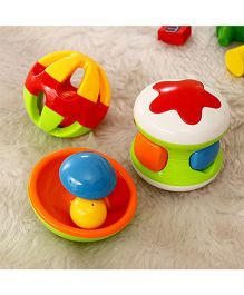Emob Baby Rattles Fun Toys With Little Jingle Ball - Multi Colour