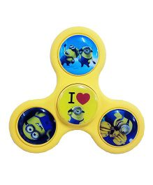 Emob Minions Printed Fidget Spinner With Rubber Coated Body - Yellow