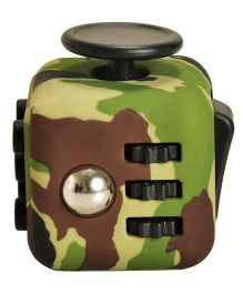 Magic Pitara Fidget Cube Camouflage Pattern - Green Brown