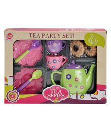 Magic Pitara Tea Play Set with Cookies Multicolor - 9 Piece