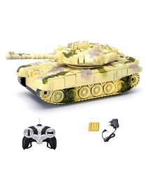 Webby RC Tank With Music and Lights - Beige