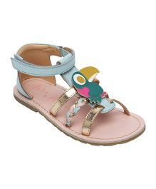 Aria Nica Toucan Motif Embellished Sandals - Blue