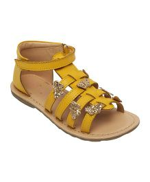 Aria Nica Alice Embellished Sandals - Yellow