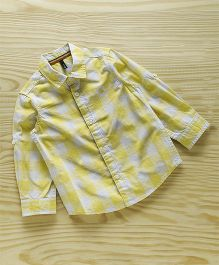UCB Full Sleeves Checks Shirt - Yellow & White