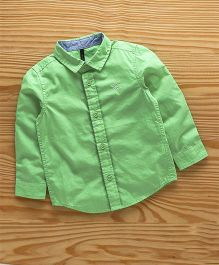 UCB Full Sleeves Plain Shirt Embroidered Logo - Green