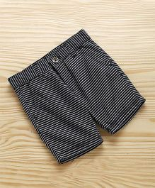 UCB Striped Shorts With Pockets - Black