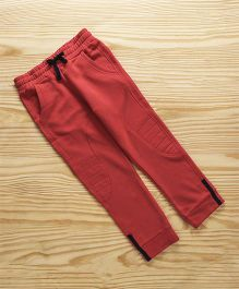 UCB Full Length Track Pant With Drawstrings - Red
