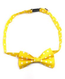 Kidofash Big Polka Dot Bowtie - Yellow